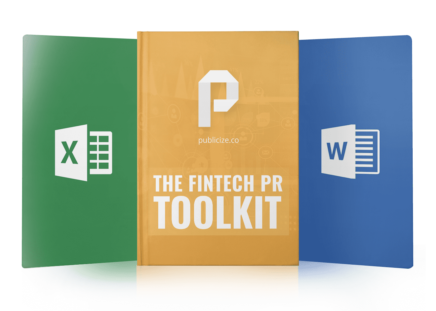 fintech book cover with excel and word
