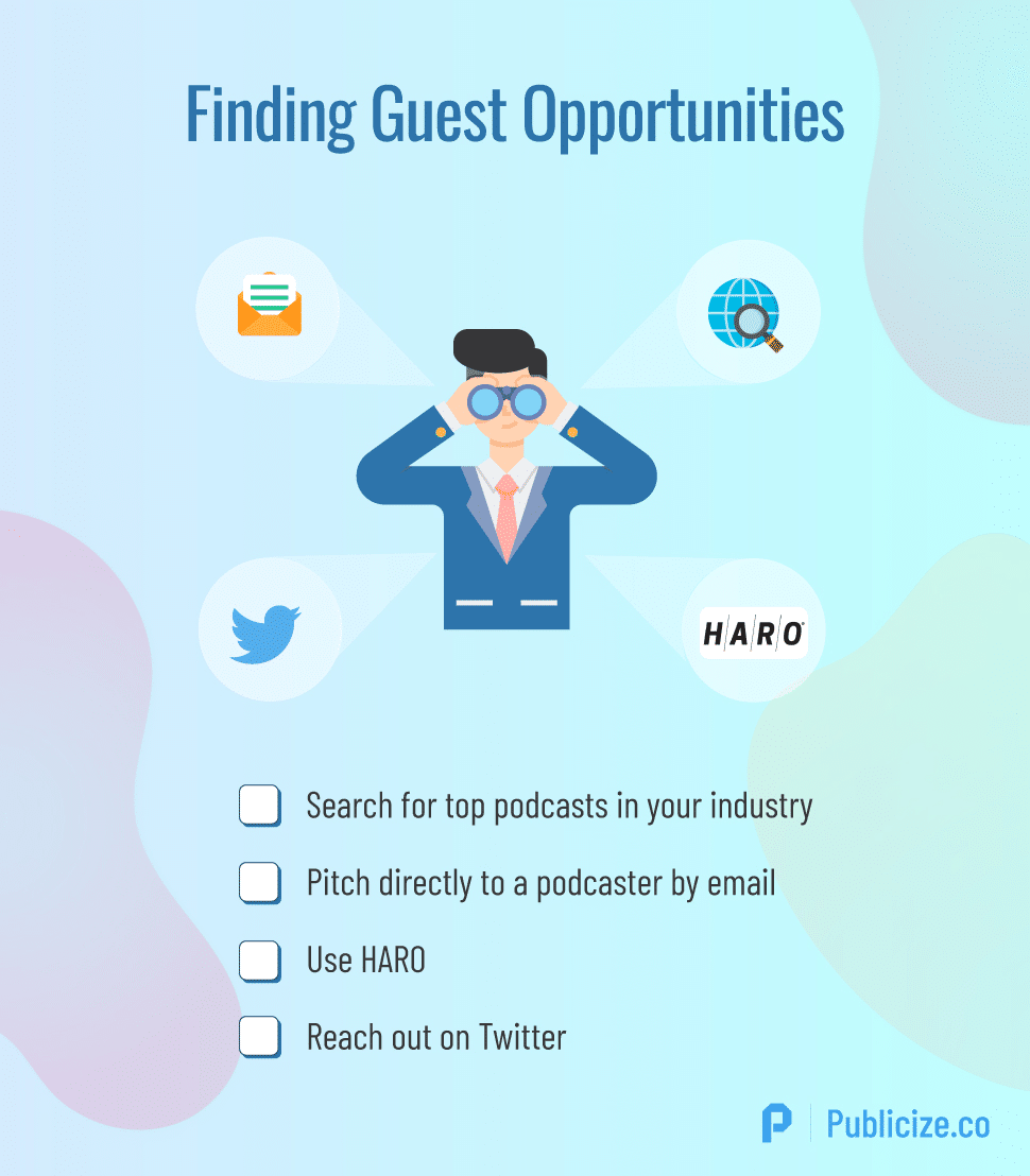 find podcast guesting opportunities infographic