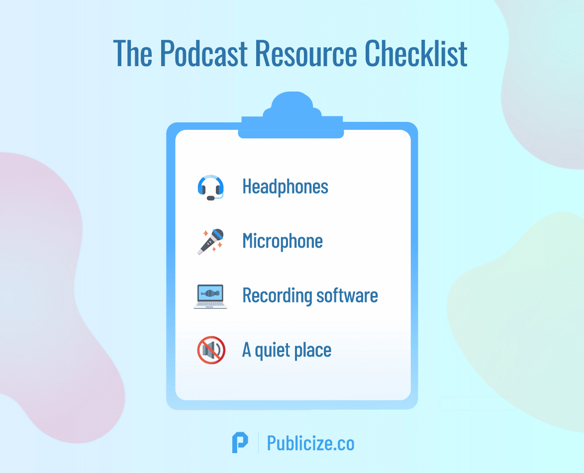 the podcast infographic checklist